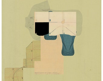 Abstract collage,  Abstract composition 61