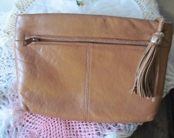 Leather Hand Bag  Cow Girl Type  / SALE CLEARINGOUT25 must use at check out
