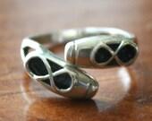 Ballet Shoes Ring- Ballerina Gift- Dance Jewelry- Recital Gift- Sterling Silver- Adjustable Ring- Ballet Teacher- Recital Gift