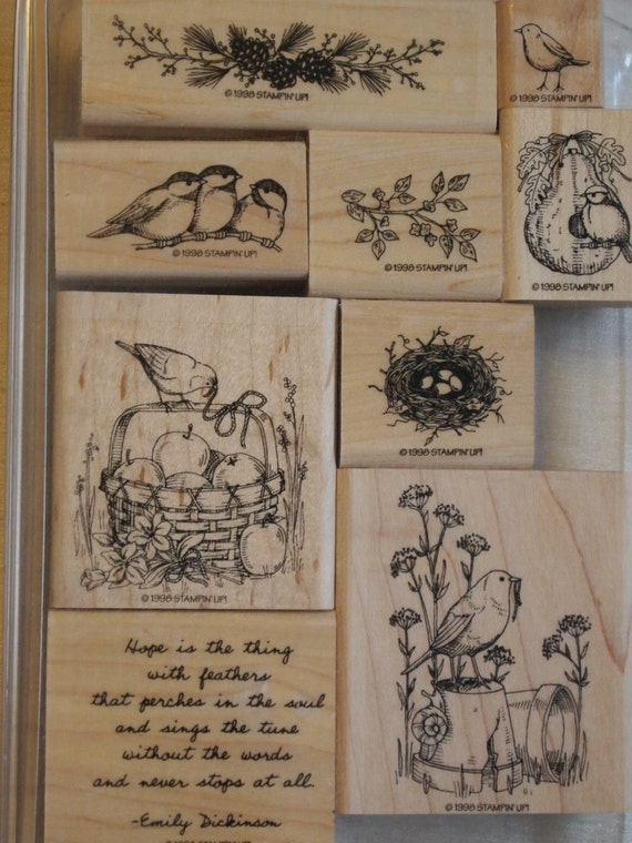 Stampin up stamp set feathered hope stampin up retired set