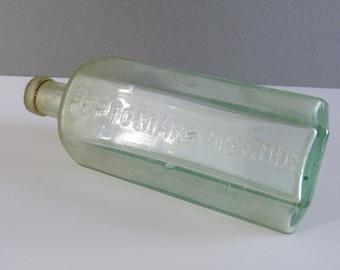 Antique Medicine Apothecary Bottle - Pepto Mangan Gude - Dr. A. Gude & Co.