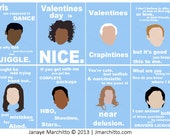 8 Community Valentines Cards-Set of 8 Includes Troy, Abed, Shirley, Jeff, Pierce, Annie, Britta, Chang