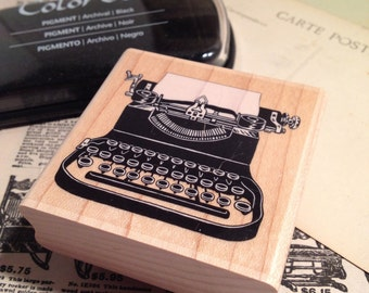 Typewriter Rubber Stamp by Stampabilities / NEW Vintage Style Typewriter Stamp