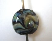 Sale SRA Handmade silverglass focal, glass bead , made by me in my home studio