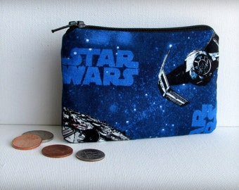 Star Wars - X Wing - Tie Fighter - Money Pouch or Coin Purse - Millenium Falcon