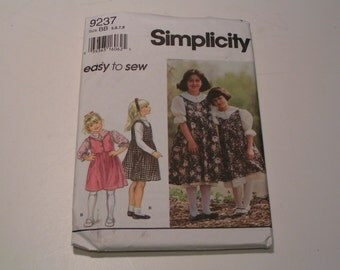 Simplicity Pattern 9237 easy to sew Child Separates