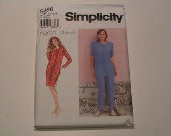 Simplicity Pattern 9488 maren dress Miss Petite Separates