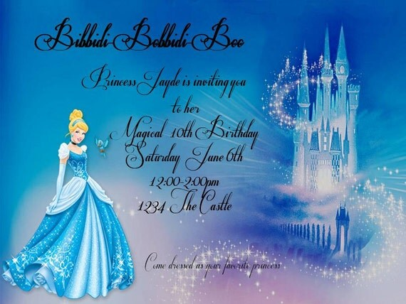 Cinderella Birthday Invitations – Cinderella Birthday Invitation Wording