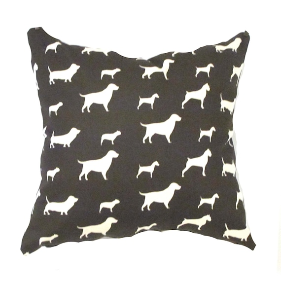 Items similar to Brown Pillow Cover- Modern Brown Pillow Cover .Dogs Pillows Pillow Cover.Accent ...