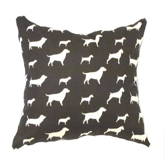 Modern Pillow Covers Etsy : Items similar to Brown Pillow Cover- Modern Brown Pillow Cover .Dogs Pillows Pillow Cover.Accent ...