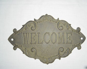 Wall Plaque Welcome