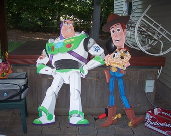 Toy Story Buzz & Woody painted wall plaques / artwork for commission