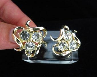 Vintage Signed Coro Rhinestone Earrings