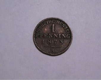 1873 B Prussia 1 Penning Coin