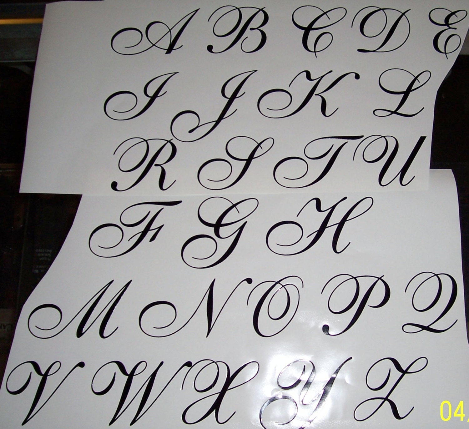 3 vinyl letter decals all 26 letters or 26 of the same letter