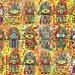 JUDAICA - 18 Vintage Tapestry Hamsa Blessings* - SILBERZWEIG ORIGINAL Art Print - Lucky Number, Protection, Evil Eye, Star of David, Israel,