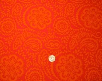 Michael Miller fabric Wildflower Tonal Garden Pink and Orange