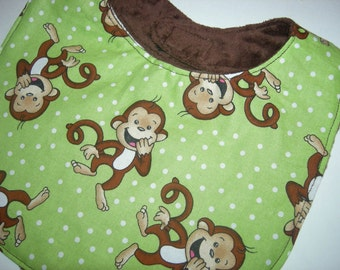 Monkey Around Reversible Bib