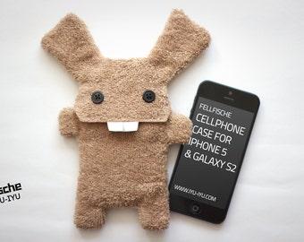 Fluffy Cellphone Case for iPhone 5 & SE - Fellfische - Honey Bunny