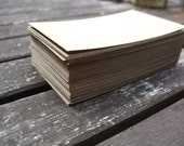BLANK vintage recycled kraft cardstock. Great for DIY craft projects, business cards, and tags.