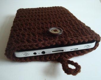 iPad mini - Nook - Kindle - case cover - handmade crochet - Brown