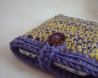 Kindle Fire, Nook Tablet, iPad Mini case cover - handmade crochet