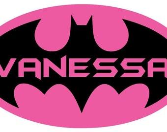 Personalized Batman Wall Sticker Decal