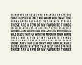 Favorite Things: The Sound of Music Art Print // Unique Gift for Her // Music Lovers Gift // Gift for Mom