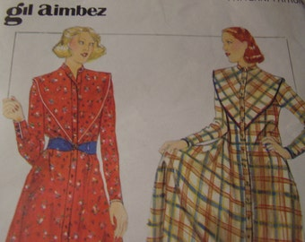RARE  Vintage 1970's Butterick 5142 Gil Aimbez Dress Sewing Pattern, Size 10, Bust 32 1/2 or Size 8 Bust 31.5