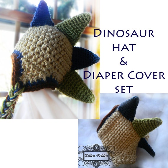 Crochet Dinosaur Hat And Diaper Cover Pattern : Crochet Dinosaur Hat and Diaper Cover Photography by ...