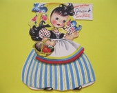 1949 STORYLAND Snow White 2-Sided Greeting Card by American Greetings--Gorgeous Artwork--A166