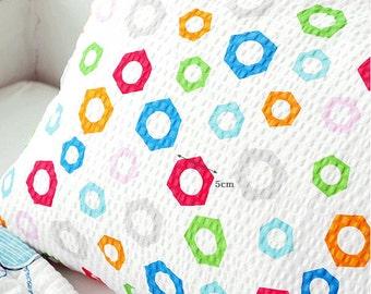 "Colorful Shapes Seersucker (53 x 36"") per Yard 37137 - 128"