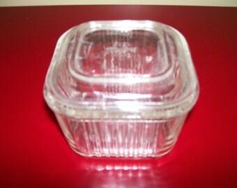 Vintage Fire King Glass Refrigerator Dish
