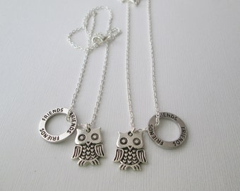 Flat Owl and Friends BFF Necklaces