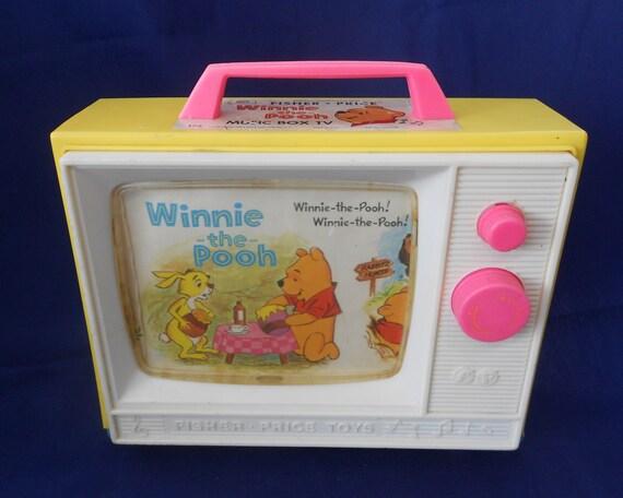 Fisher Price Toys Winnie The Pooh Music Box Tv 1971 Walt