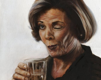 Arrested Development Lucille Bluth Portrait Print