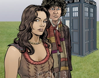 Classic Doctor Who Print