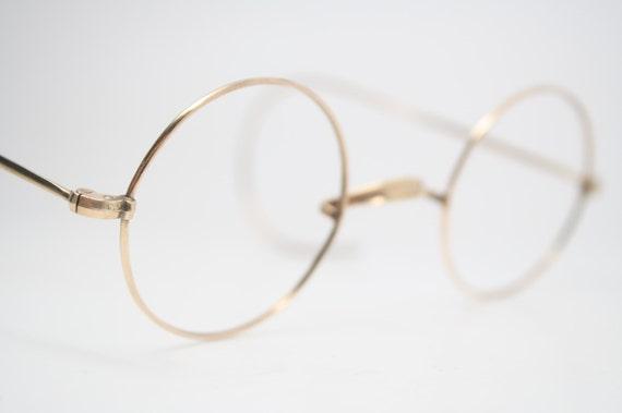 Gold Frame John Lennon Glasses : Antique Eyeglasses Gold Windsor Glasses New Old by ...