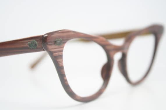 Can Glasses Frames Be Adjusted : Cat Eye Frames vintage Eyewear Woodgrain Retro Eyeglasses