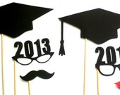 DIY YOU GLUE Graduation Photo Booth Props. Class of 2014 Photo Props. Photo Booth