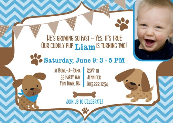 dog birthday party invitations puppy dog party invites st, Birthday invitations