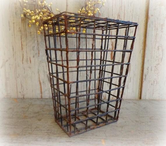 Primitive antique animal trap basket rustic decor - Trap decor ...