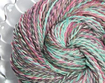 SALE - Handspun Yarn - Ice Cream - Falkland Wool, DK weight, 219 Yards