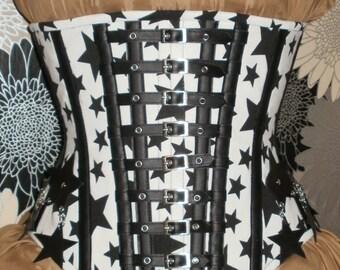 Black Stars Under-bust Corset