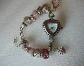 Pink Heart Watch Bracelet