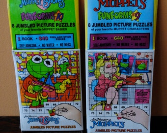 Vintage Jim Henson's Fun Forms Jumbled Picture Puzzles 1989