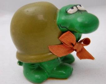 Vintage schildpad beeldje