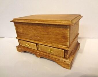 Dollhouse wooden chest