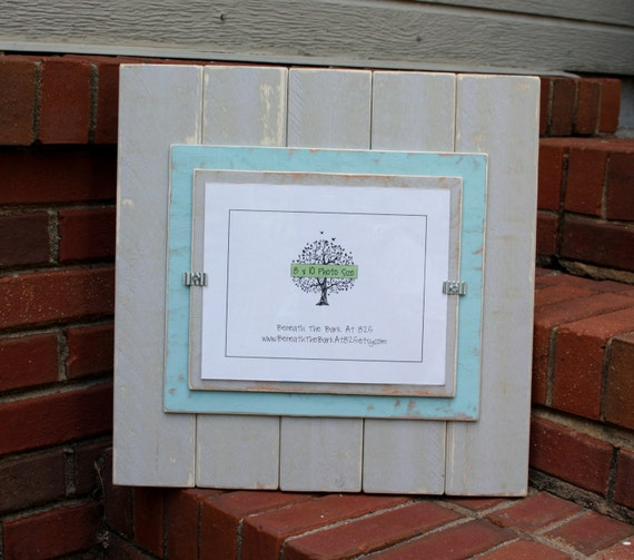 Picture Frame Distressed Wood Holds An 8x10 Photo
