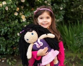 "PATTERN Instant Download BESTI Sivani 15"" PLAY-size Crochet Doll Amigurumi"